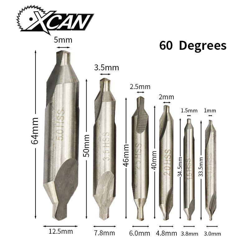 10 pcs A HSS High Speed Steel Center Drill Countersinks 60° Angle Bit Tool 3.5mm
