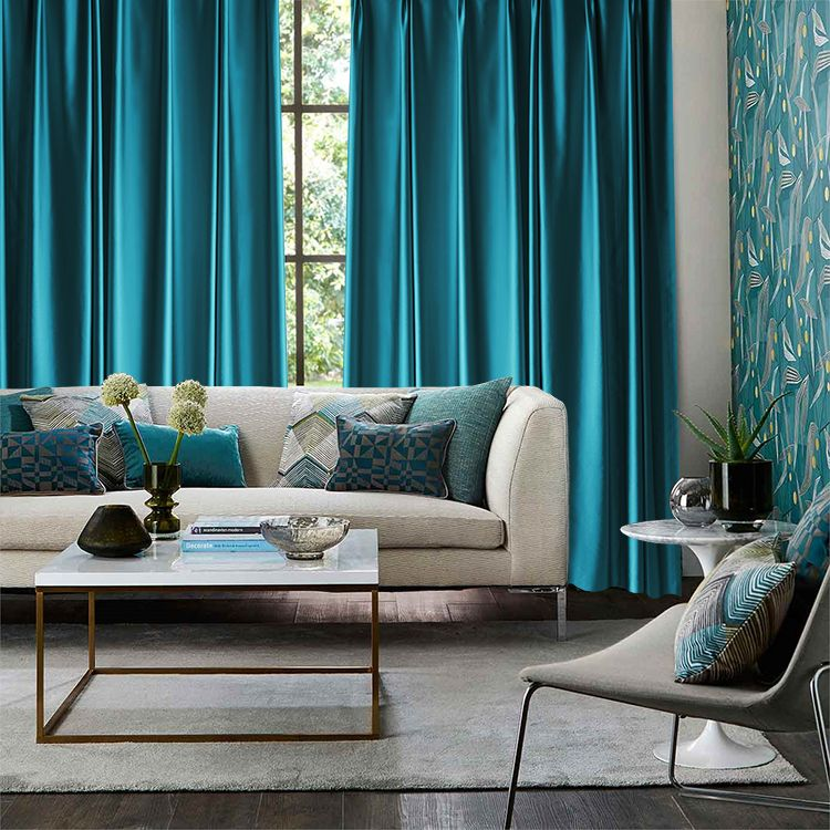 Teal Curtain Curtains Living Room Turquoise Living Room Decor Teal Curtains
