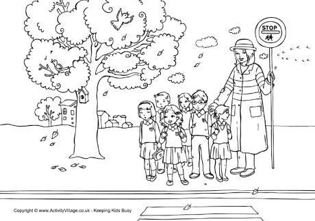 A Cruzar La Calle Dibujos Para Colorear Dibujos Ninos