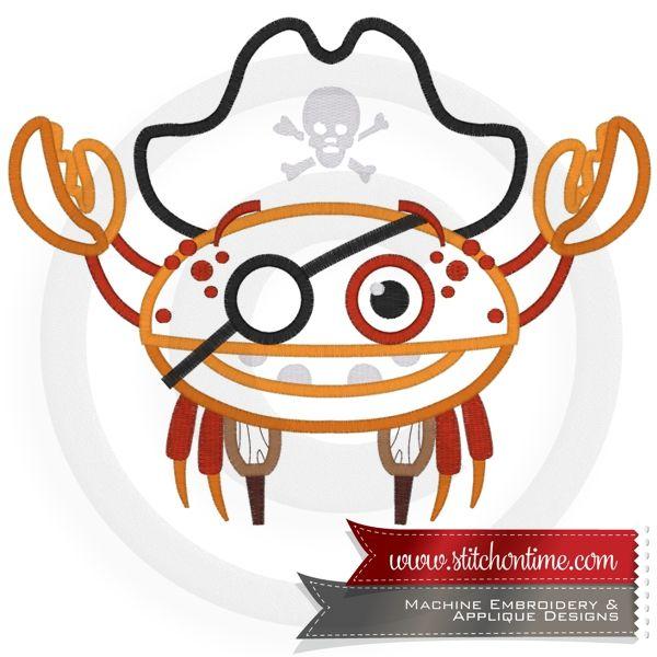 99 pirates crab pirate applique crab logo pinterest