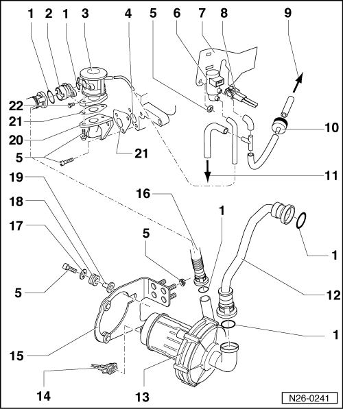 Seat Workshop Manuals Leon Mk1 Power Unit 4 Cylinder Injection Engine 5 Valve Mechanics Exhaust System Second Power Unit How To Remove Inlet Valve