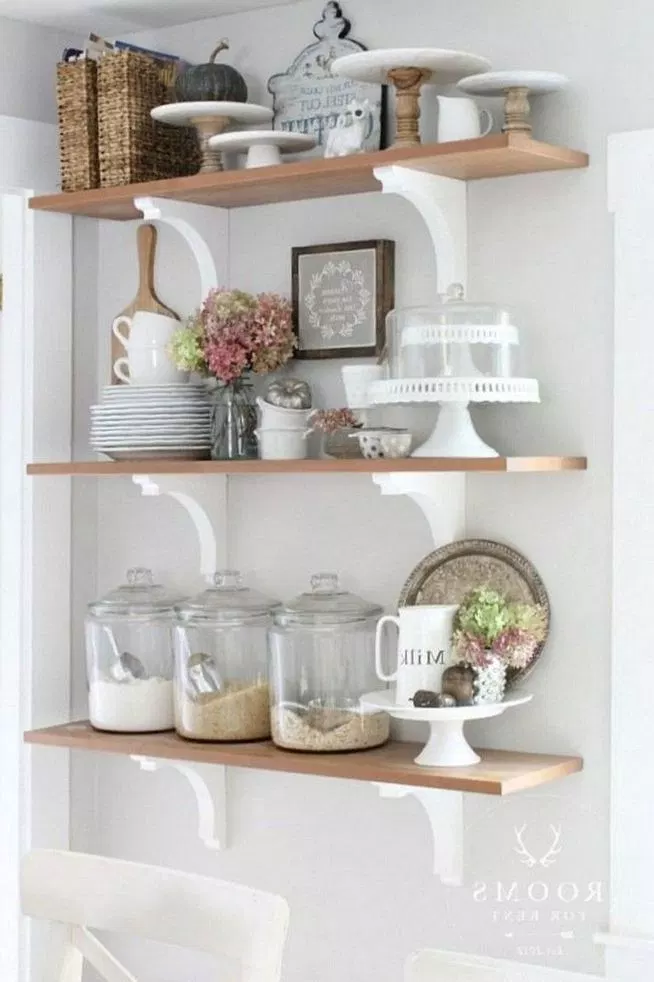 13 Elegant Rustic Shelving Ideas For Your Kitchen Rustic Kitchen Decor Kitchen Decor Rustic Shelves
