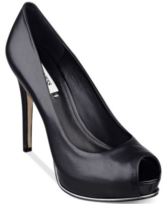 d8258db27c71 The Honora platform pumps by Guess add chic style to anything you pair them  with.
