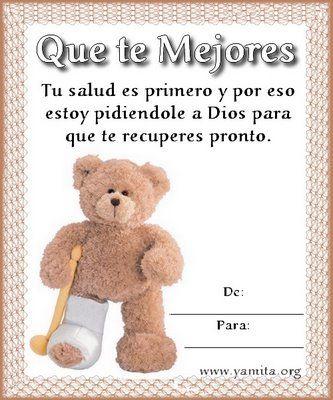 Get Well Soon Mensajes De Salud Espero Te Mejores Pronto