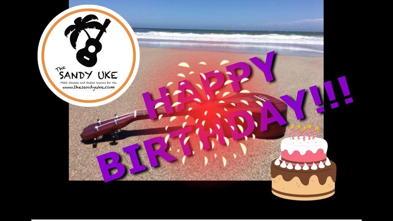 Happy birthday beginner ukulele tablature play along