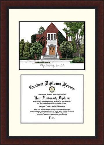 michigan state university diploma frame lithograph legacy series - Michigan State Diploma Frame