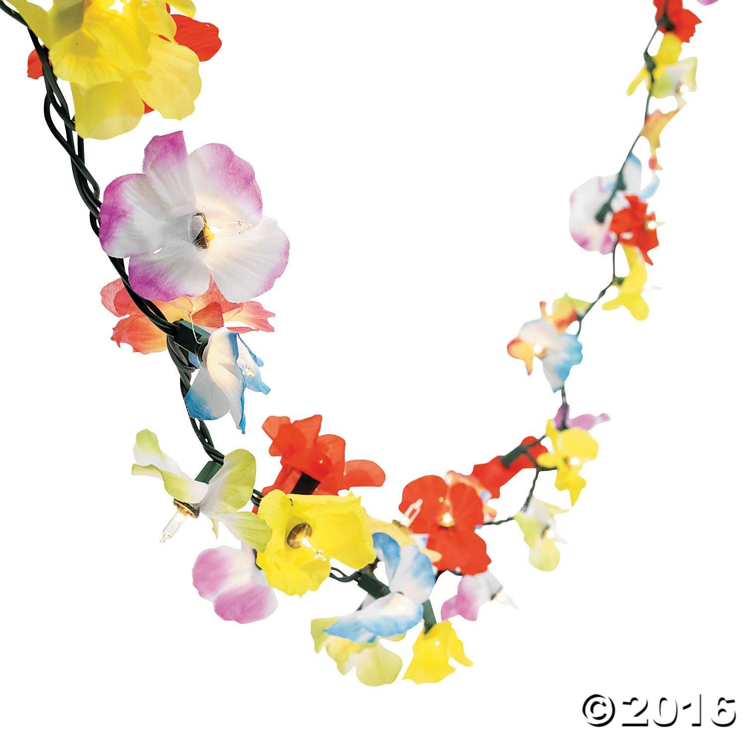 Flower Lei Garland String Lights Christmas Party Pinterest