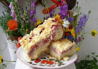 Leniwe Drozdzowe Z Truskawka I Kruszonka Food Baking Breakfast