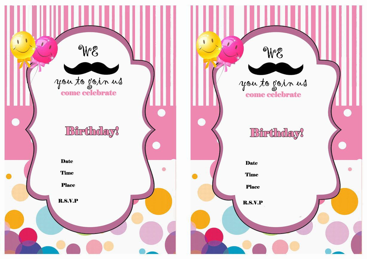 Delighted Moustache Party Invitations Photos - Invitation Card Ideas ...