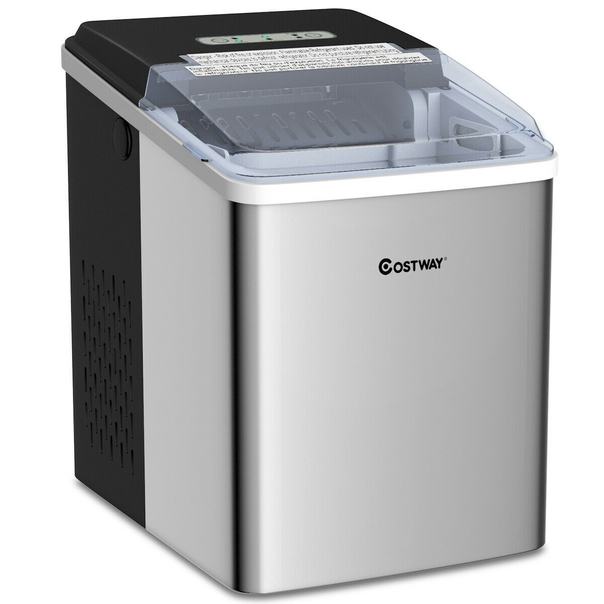 26 Lbs 24 H Self Clean Stainless Steel Ice Maker In 2020