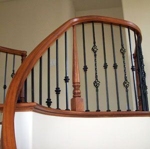 Best Changing Out Wood Spindles To Iron Iron Balusters House Stairs Decor 400 x 300