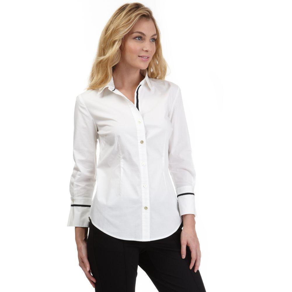 72653e901 Nautica Womens French Cuff Button-Down Shirt #Nautica #ButtonDownShirt