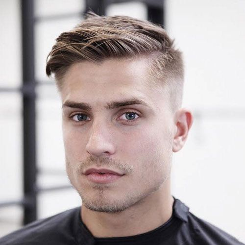 Fade With Disconnected Top With Square Look Avedaibw Thin Hair Men Mens Haircuts Short Mens Hairstyles Short