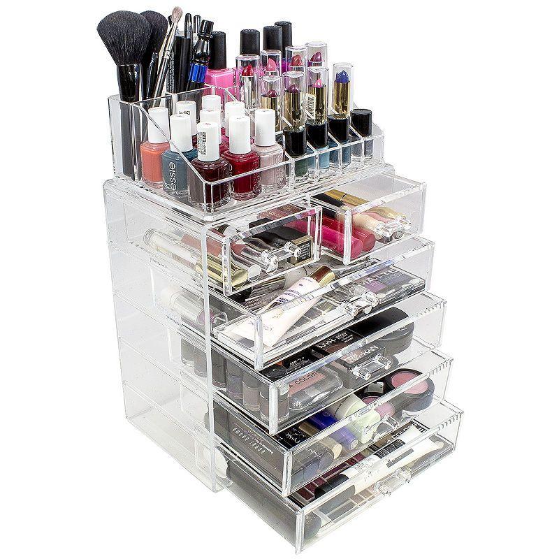Sorbus Acrylic Cosmetics Makeup And Jewelry Storage Case Display