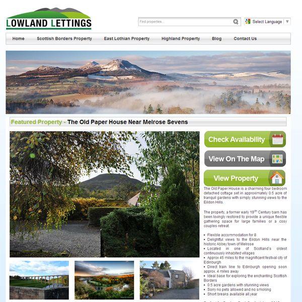 Lettings Agency Based In Scotland Website Design Let It Be Borders
