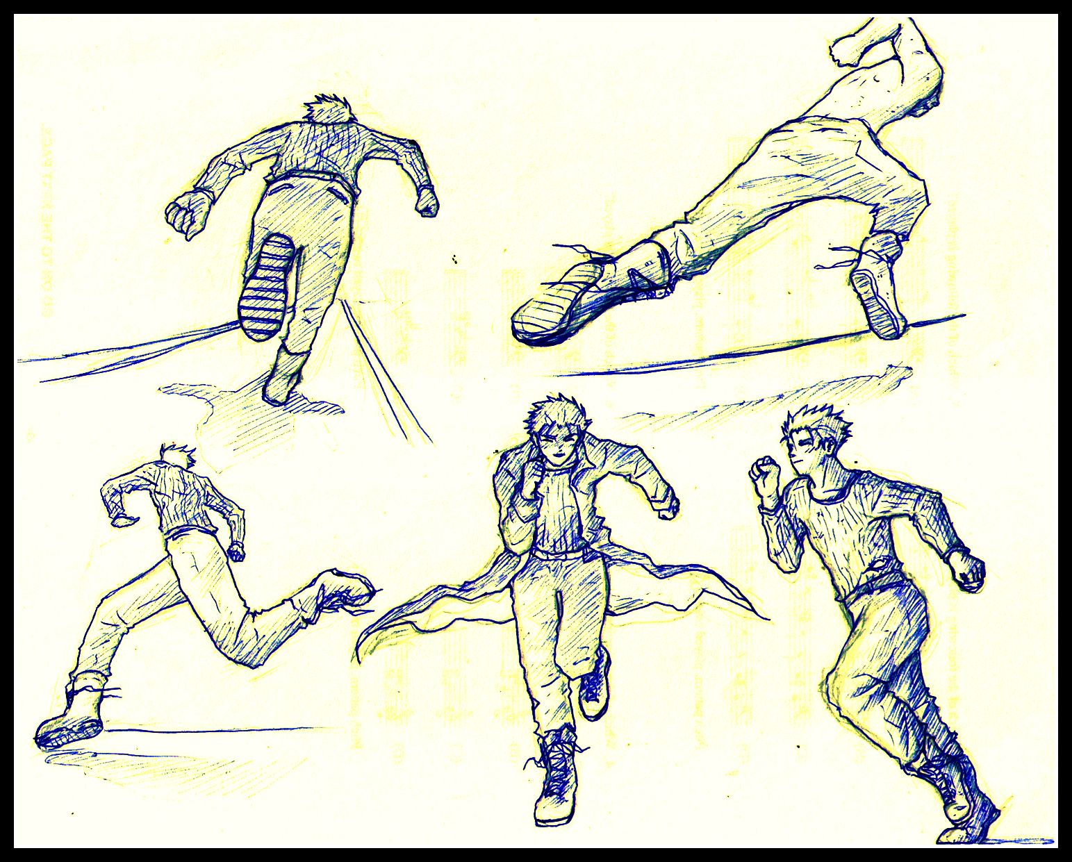 Dynamic Running Pose Reference For Artists And Sketching That I Made A Few Years Ago Running Pose Anime Poses Reference Anime Poses