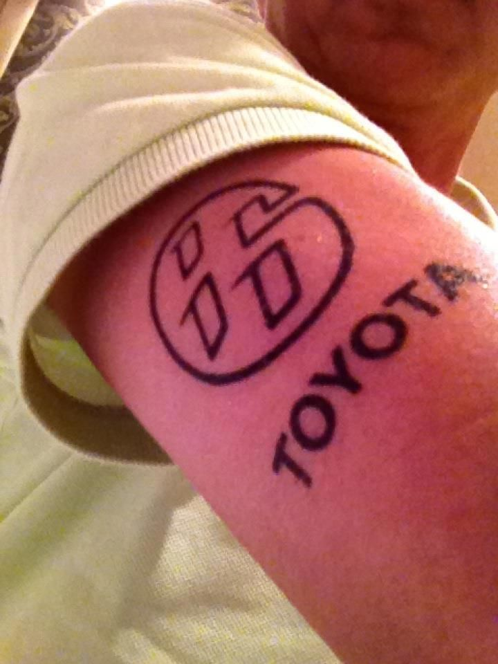 cc74c94af116e This guy loves his Toyota 86 so much he got it tattooed on his right arm..  What a fan!