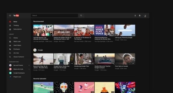 YouTube se actualizó con nuevo diseño