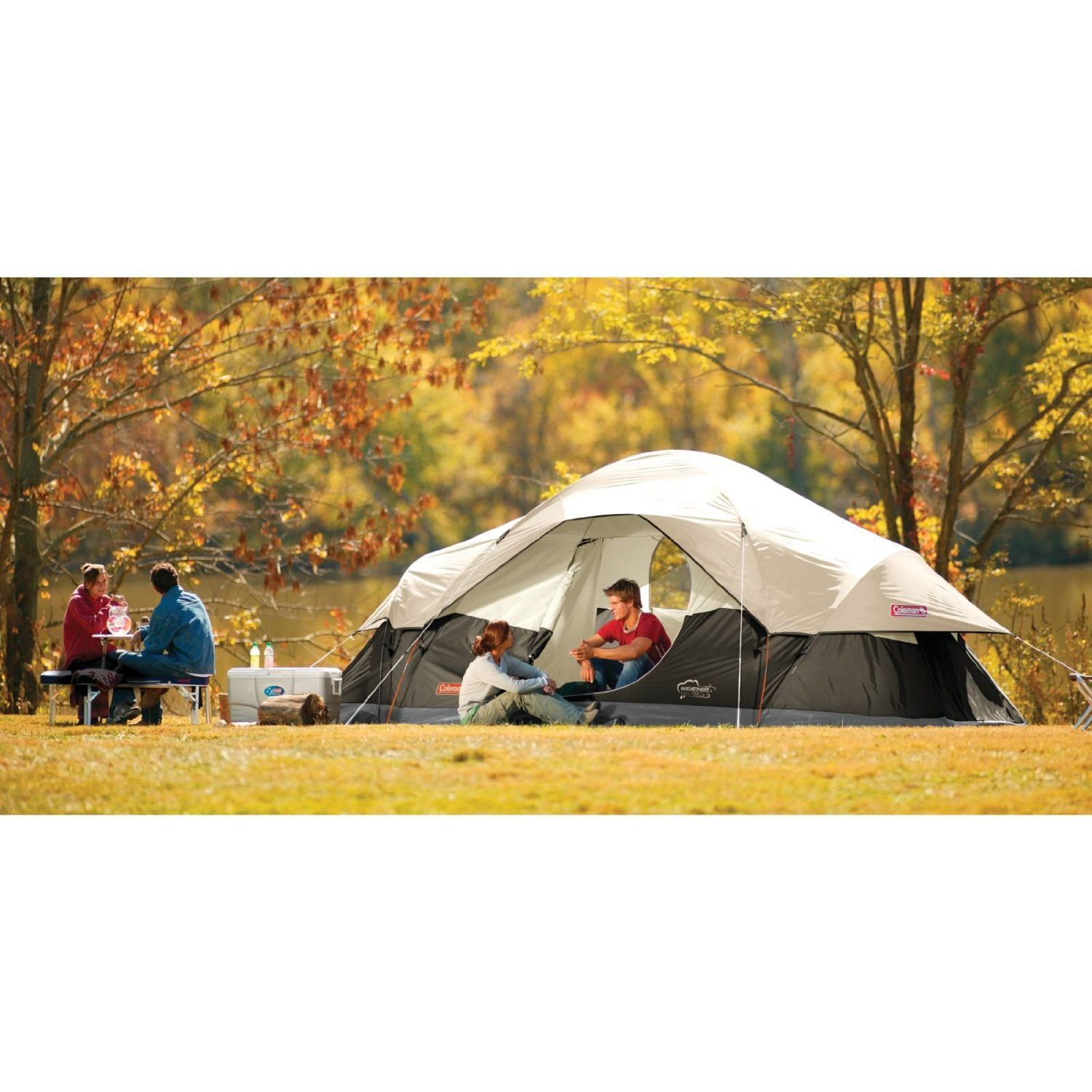 127 Amazon Coleman 8 Person Red Canyon Tent Sports Outdoors