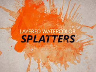 Free Layered Watercolor Splatters Brushes Free Vector Graphics