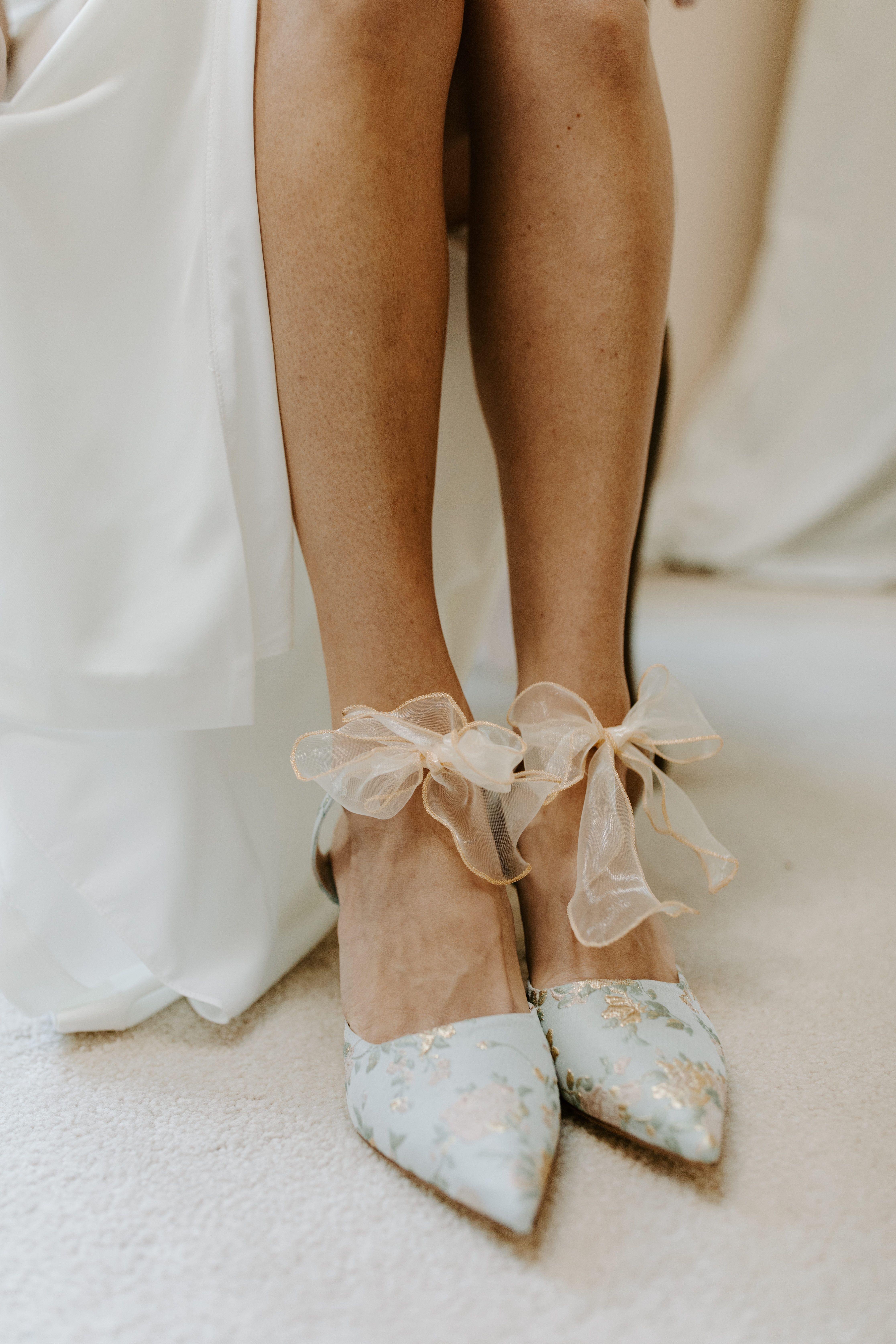 Something Bleu Elvie Mules in 2020 Dusty blue weddings