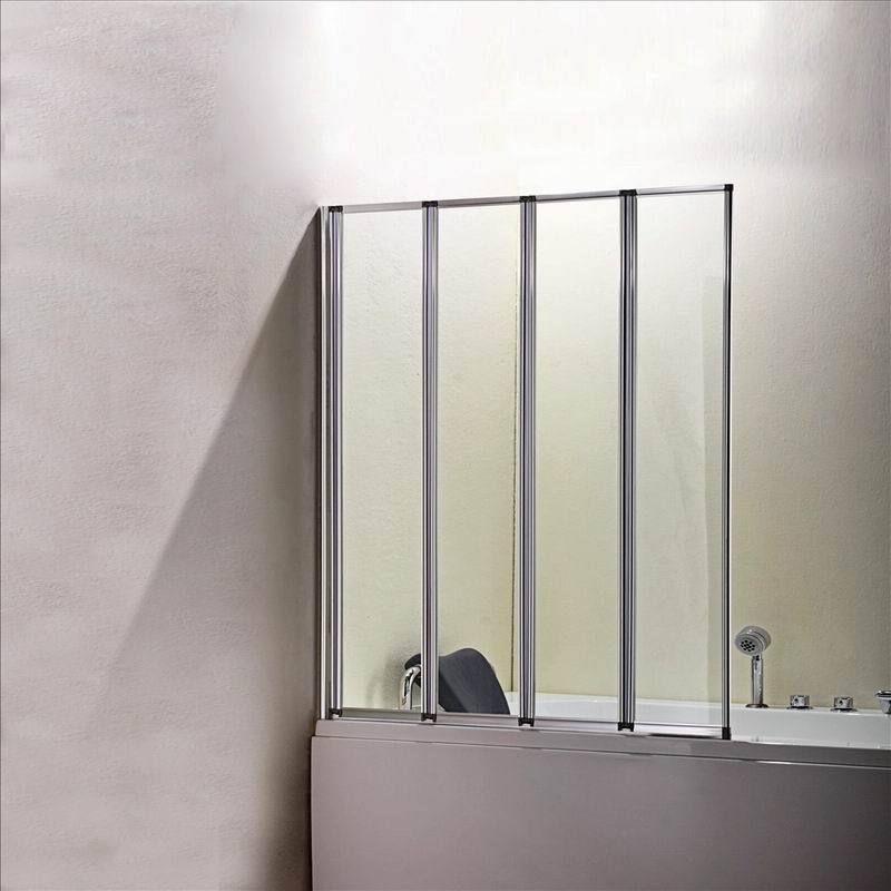 Glass Bathroom Doors Uk 4 folds and 5 folds chrome folding bath shower screen over bath