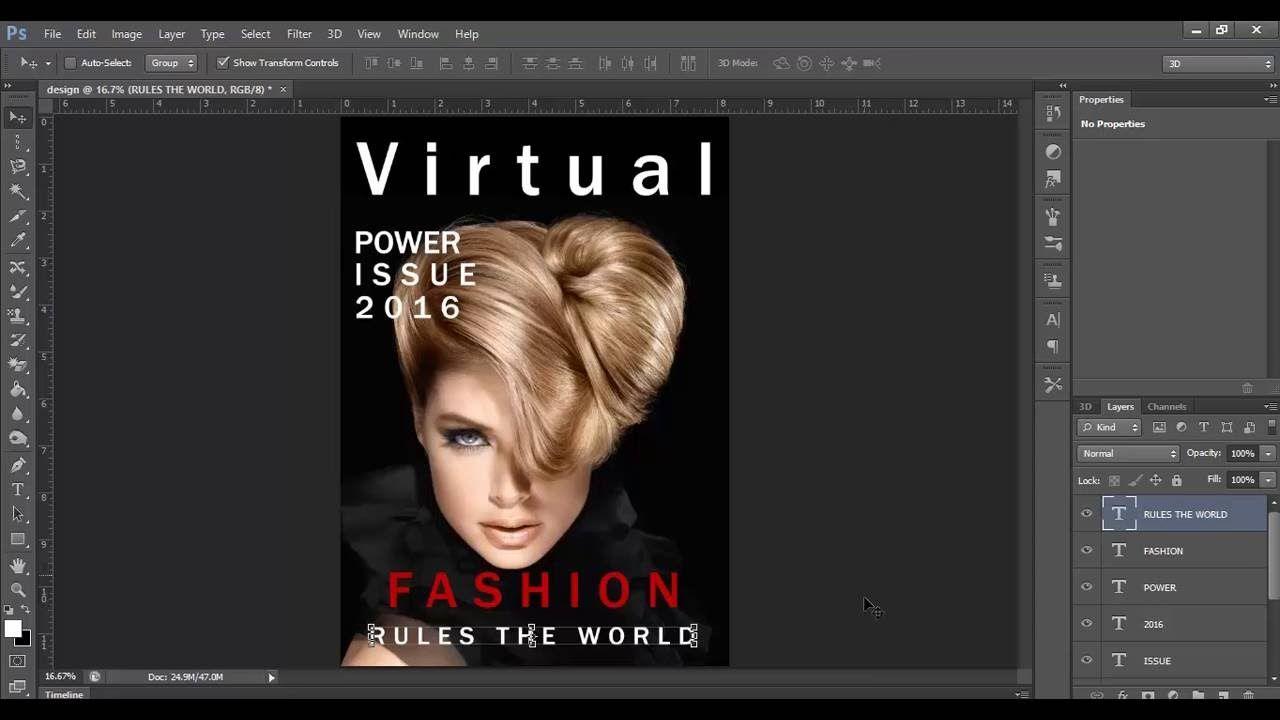 Magazine Cover design Tutorial
