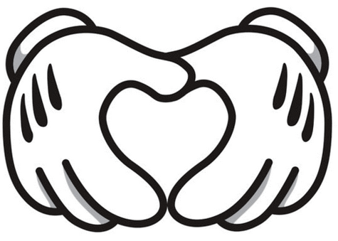 Disney #heart #hand image. OWuls love to put a photo in the heart ...