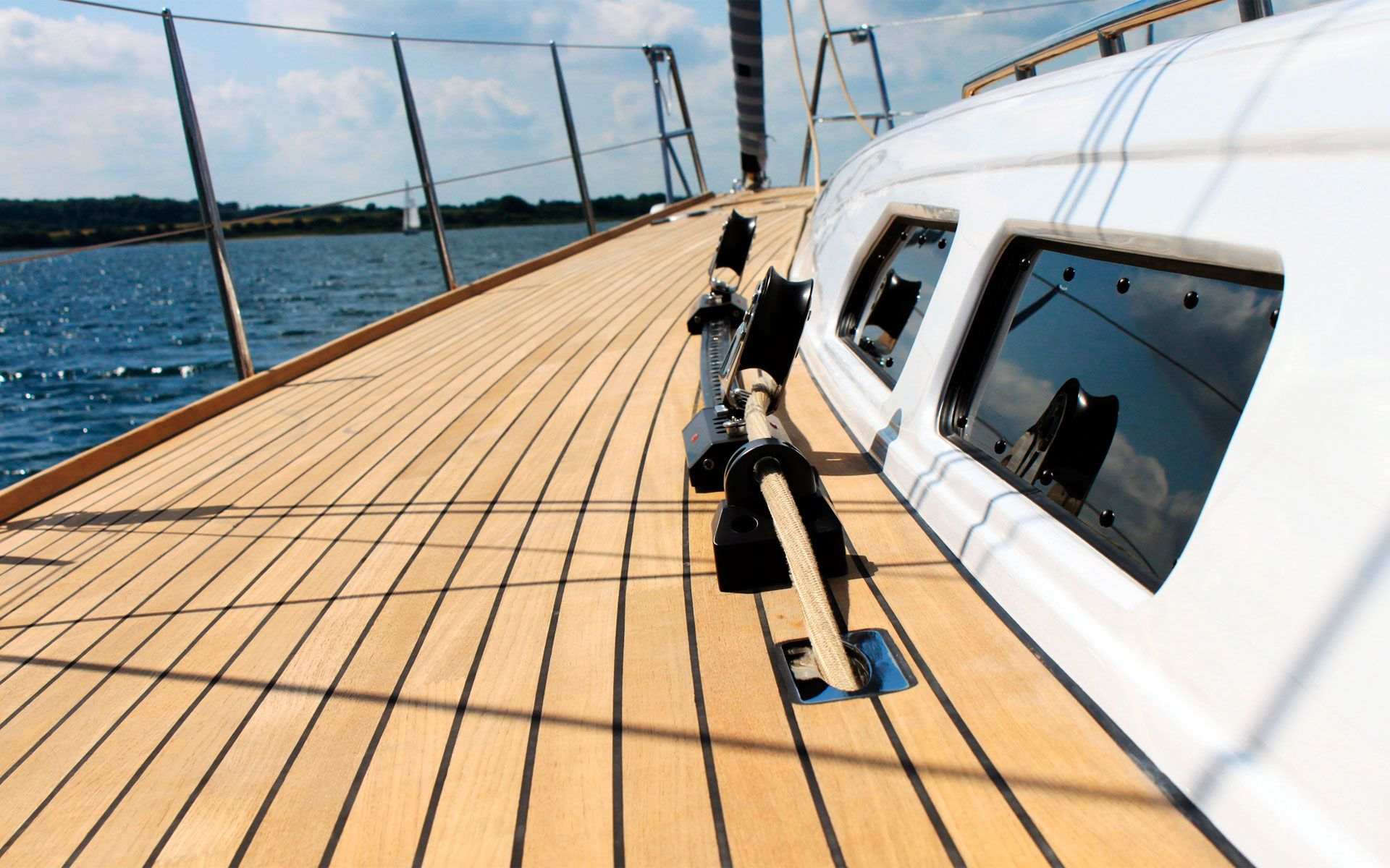 Boat deck non slip covering synthetic teak decking pvc for Non slip composite decking