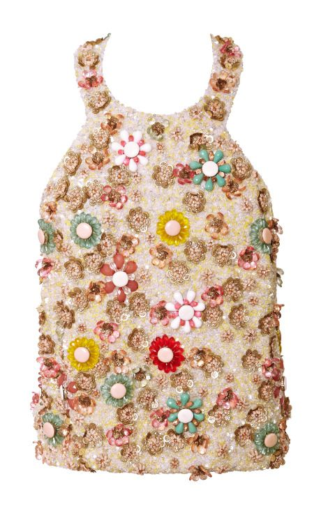 Open Back Cropped Top In Pastel Multi by Honor for Preorder on Moda Operandi