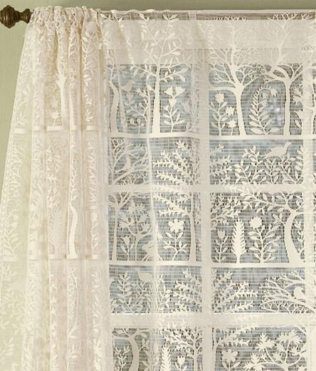 Rod Pocket Curtains Drapes Tree Of Life Lace Panel
