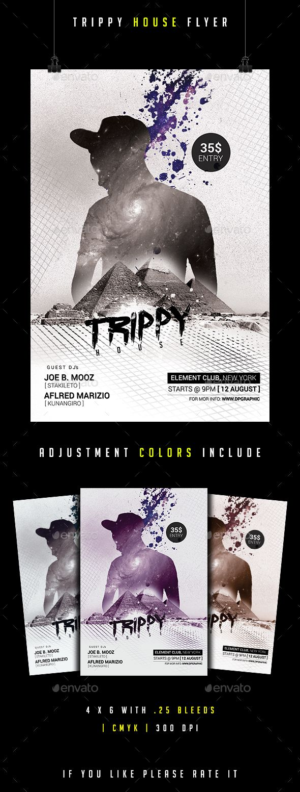 Trippy House Flyer | Trippy, Psd templates and Party flyer