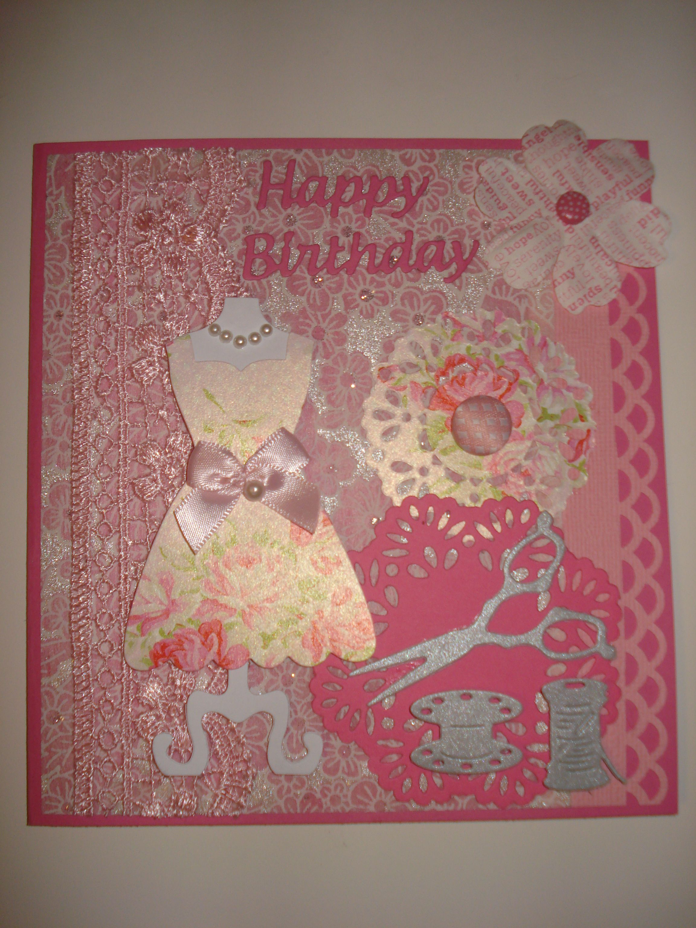 All pretty in pink for my BFF s birthday card