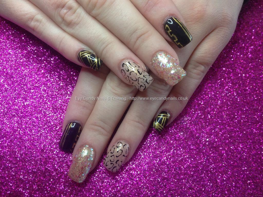 Acrylic nails with eye candy beautiful nail art pinterest