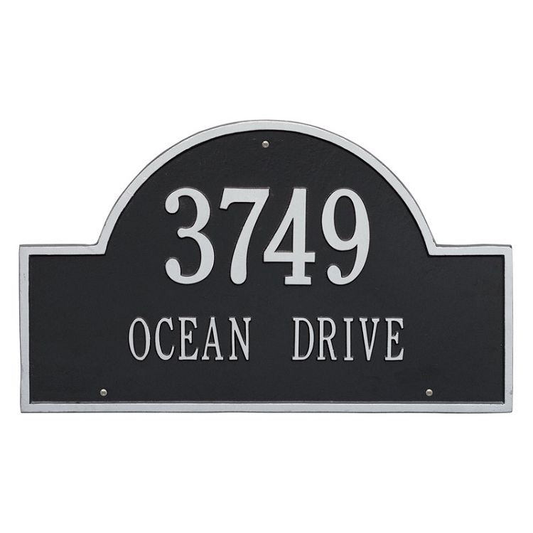 Arch Address Plaque Wall 2 Line Whitehall Products Address Plaque Silver Walls