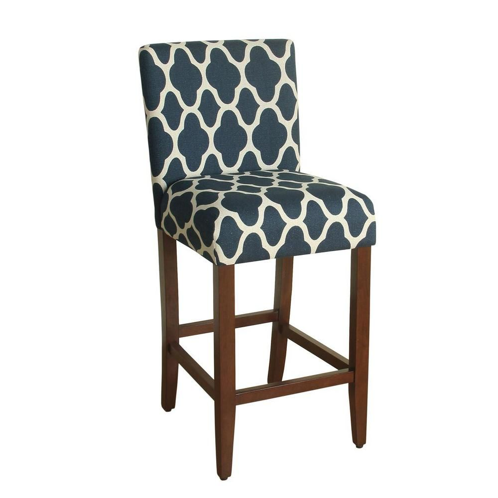 Homepop Upholstered 29 In Navy Blue Bar Stool K6858 29 F2051 Bar Stools Grey Bar Stools Counter Height Bar Stools