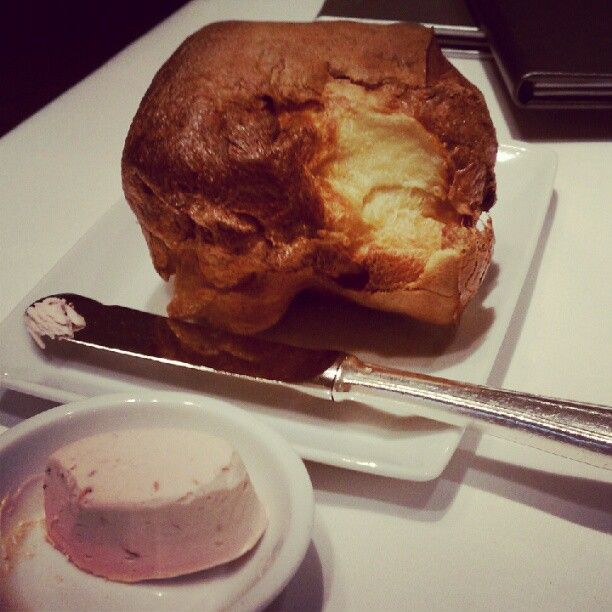 popovers + strawberry butter – a NM tradition.