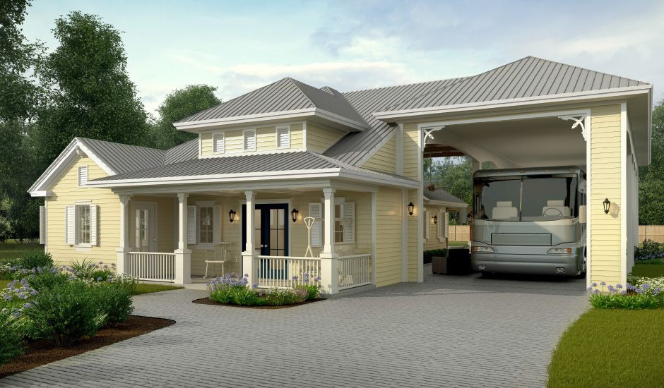 Rv Port Home Plans For Side Garage Garage House Plans Garage
