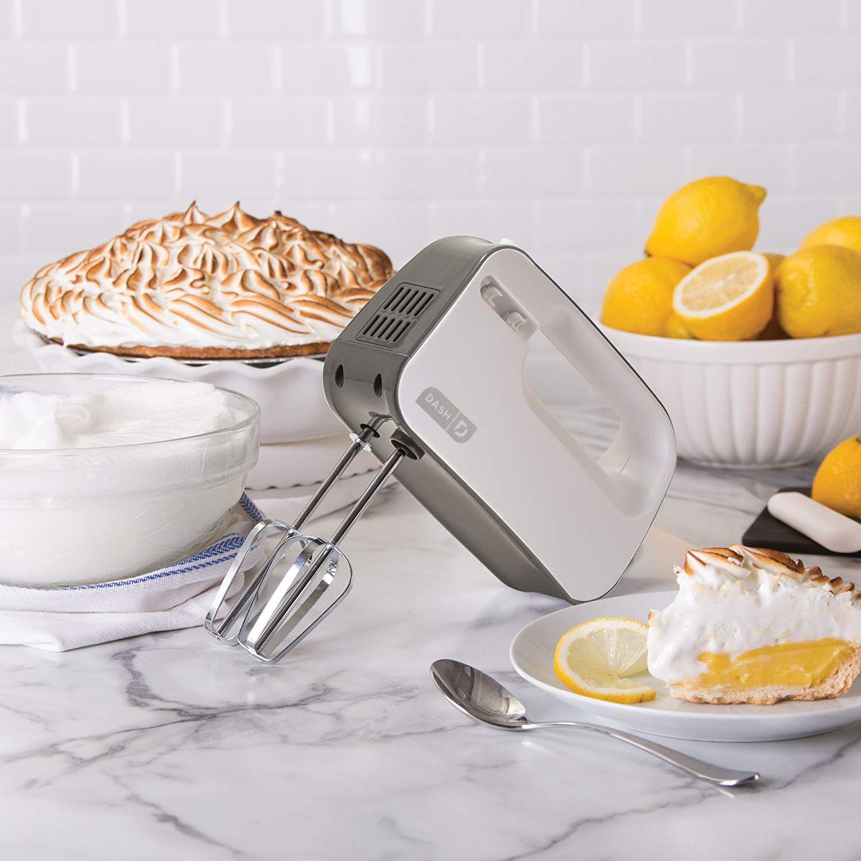 Dash smart store hand mixer white amazoncouk kitchen