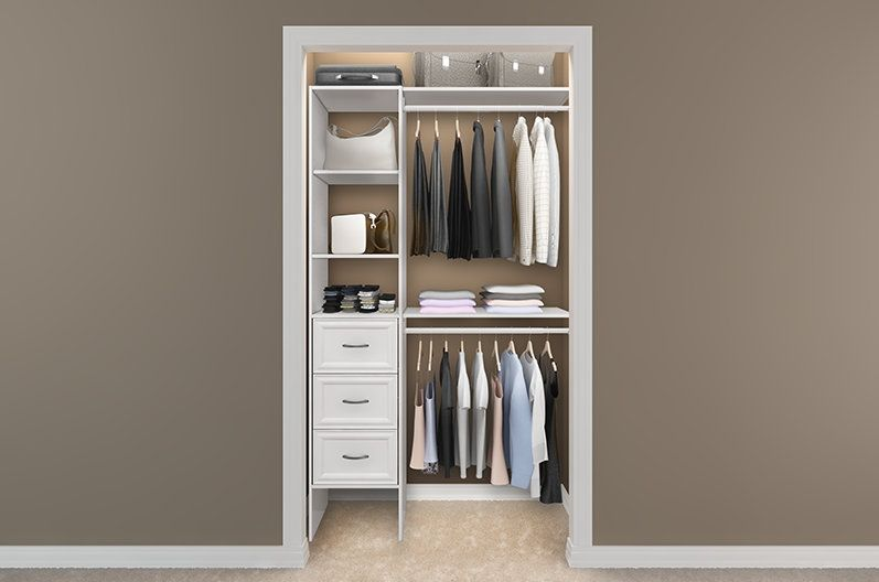 2 Of These Closet Maid 16 Storage Tower W Drawers Closet Design Layout Closet Design Tiny Closet Design