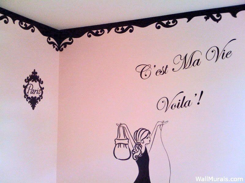 Paris Wall Mural Cest Ma Vie Carmen Pinterest Wall murals