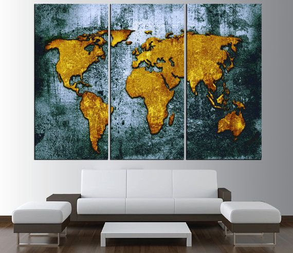 Vintage world map canvas art print large wall art by artcanvasshop vintage world map canvas art print large wall art by artcanvasshop gumiabroncs Image collections
