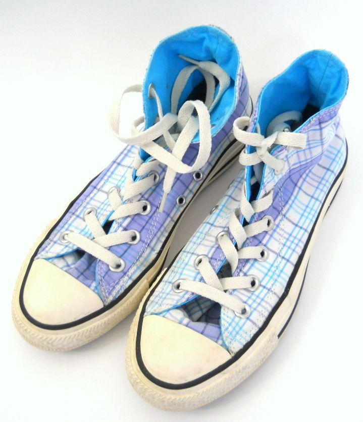 6813c593dba Converse Chuck Taylor All Stars Shoes Sneakers Size 7 Womens Mens 5 Blue  Plaid  ChuckTaylor  Sneakers