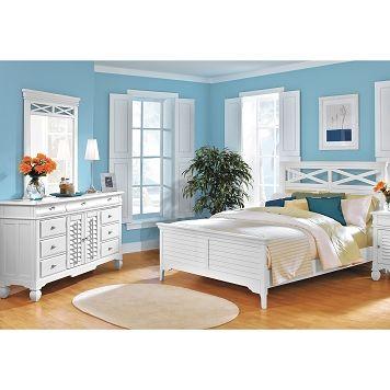 American signature furniture plantation cove white ii - Plantation cove bedroom furniture ...