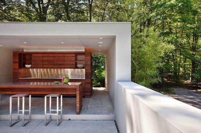 Casas minimalistas y modernas quinchos modernos fogones for Casa minimalista con quincho