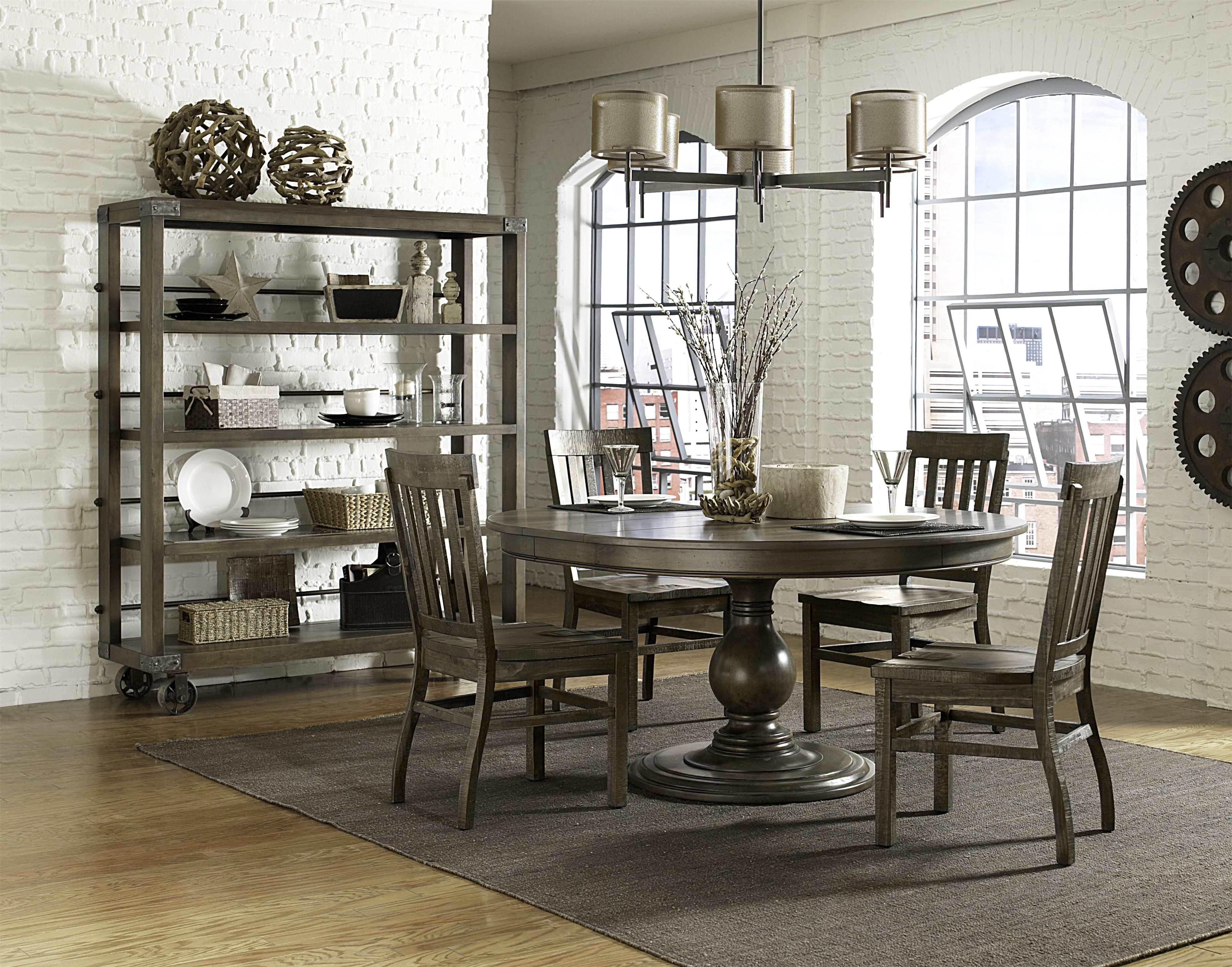 Karlin 5 Piece Round Table And Chair Set By Magnussen Home Wolf Furniture Round Dining Table Sets Round Wood Dining Table Casual Dining Rooms