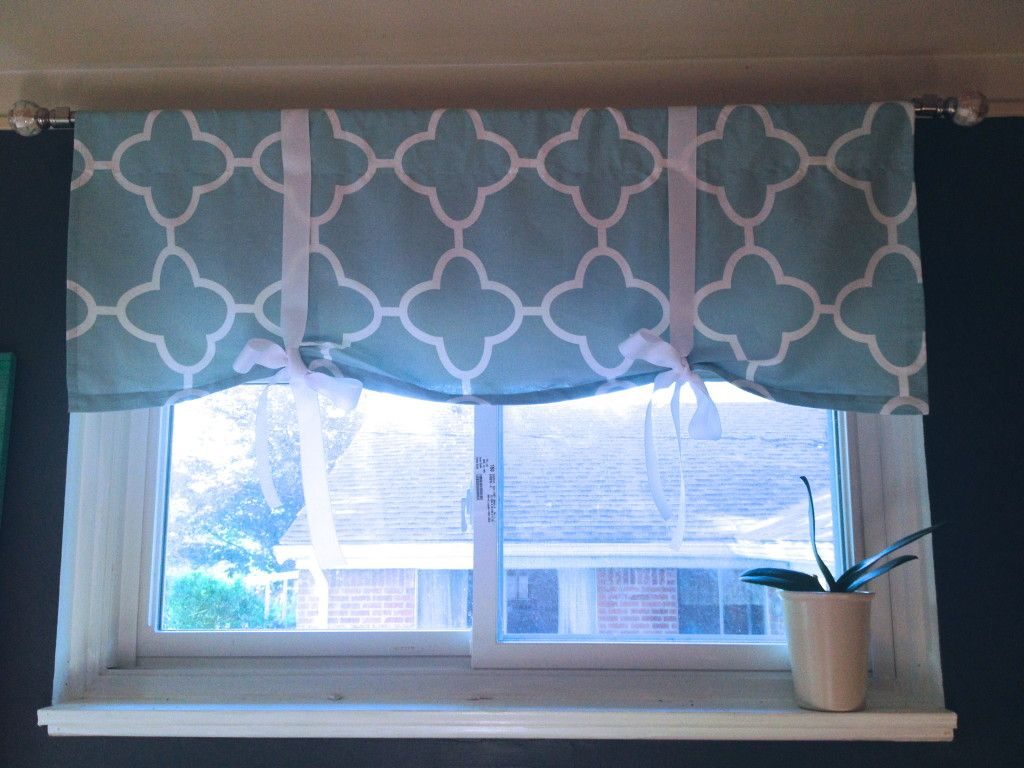 Easy Diy Window Valance For The Office Www Sypsie