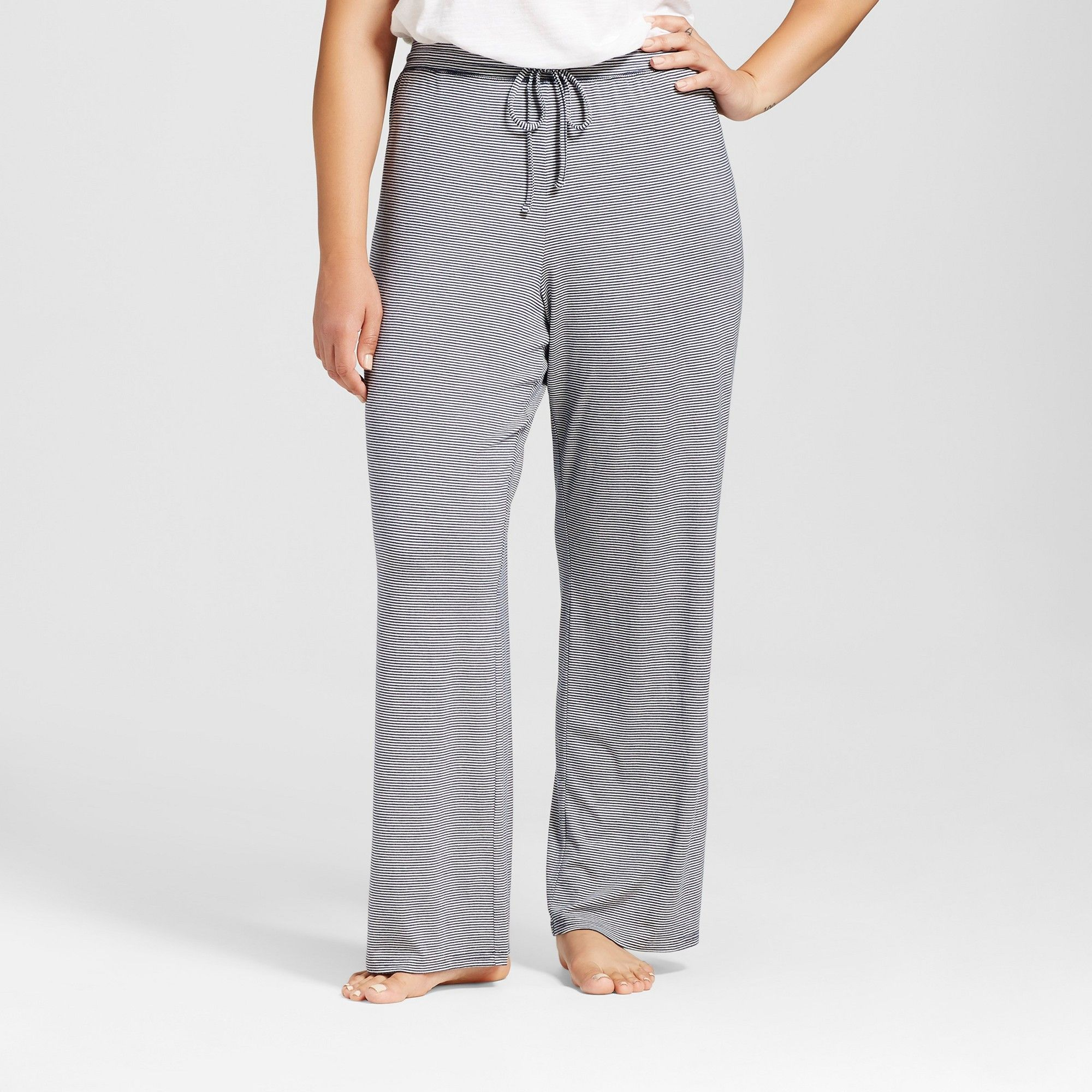f51b68928ff7c Plus Size Total Comfort Pants - Navy Stripe 3X