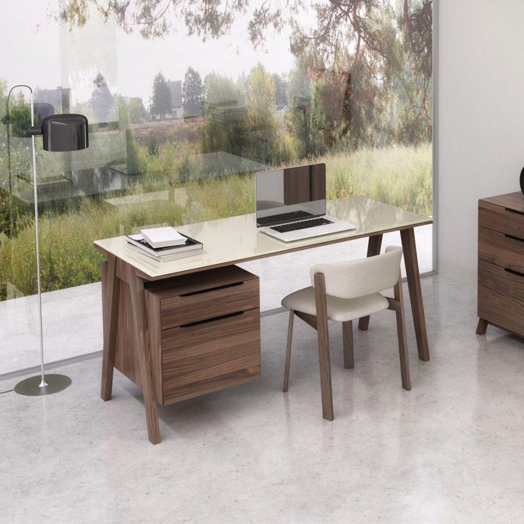 Desks Furniture Mid Century Modern Desk Filing Cabinet