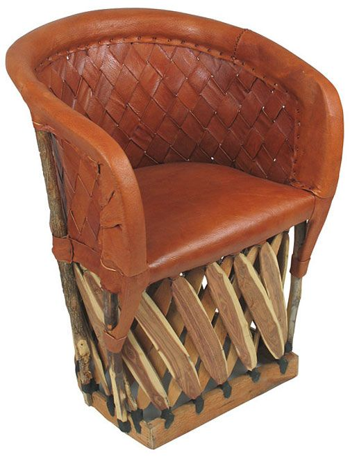 Woven Back Equipale Barrel Chair Handcrafted From Tanned Pigskin And Cedar Strips This Durable Mexican Leather Features A